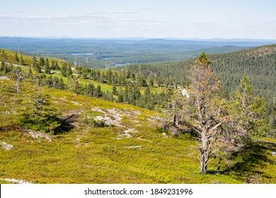 View from the top of Ruka, Kuusamo, Finland - Shutterstock ID 1849231996