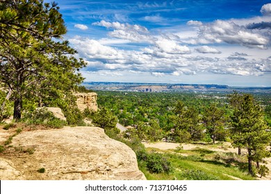 The view from the top of the sandstone bluffs surrounding Billings, Montana.