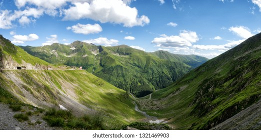 View from the top of the Transfagarasan Romania