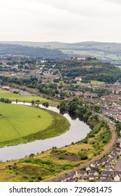 View from the top of Wallace monument, Stirling, UK