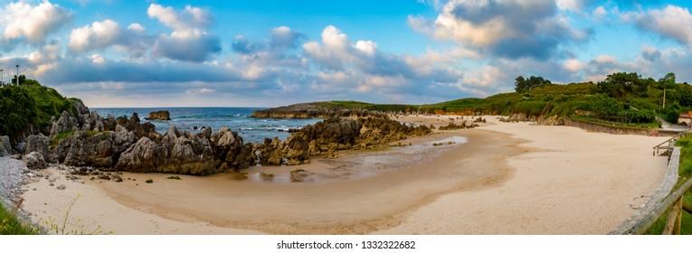 View of the Toro Beach, Llanes, Asturias, Spain