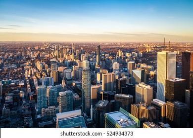 View of Toronto City from above - Toronto, Ontario, Canada