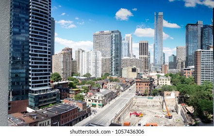 View of Toronto City buildings, Canada