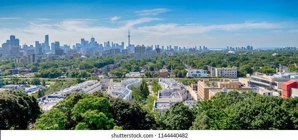View of Toronto downtown buildings in Canada
