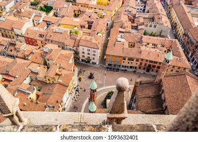 View from the Torrazzo of Cremona Cathedral, Lombardy - Italy