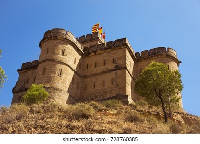 a view of the Torre de Salamanca tower in Caspe, Spain, built in 1875