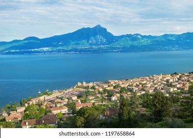View of Torri del Benaco. Italy. Europe.