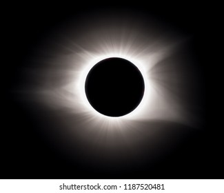 A view of the totality during the total solar eclipse of August 21, 2017, as seen from Greenville, South Carolina