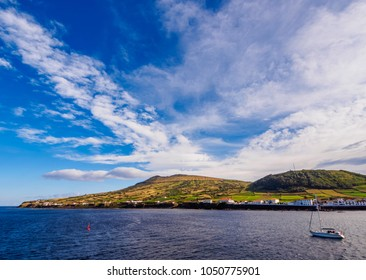 View towards the Caldeira, Graciosa Island, Azores, Portugal