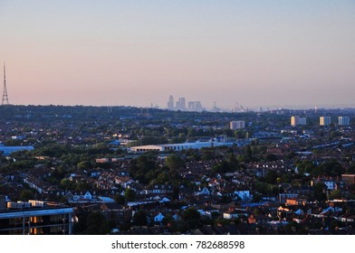 View towards the City of London, taken from East Croydon