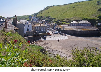 View towards Port Isaac, which is a small and picturesque fishing village on the Atlantic coast of north Cornwall, England