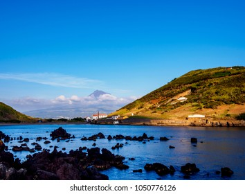 View towards Porto Pim, Faial Island, Azores, Portugal