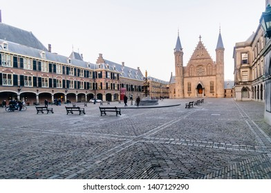 View towards the Ridderzaal, Binnenhof, Den Haag, The Hague.