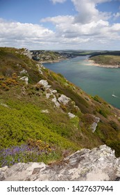 View towards Salcombe, Devon, England.