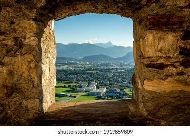 View towards Villach from Landskron Castle
