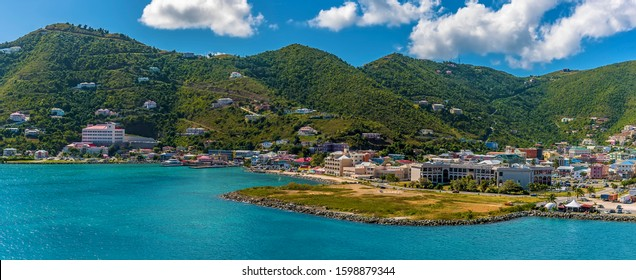 A view towards the waterfront in Road Town, Tortola
