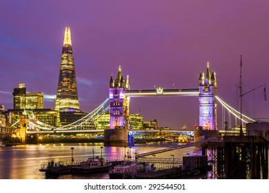 View of Tower Bridge in the evening - London