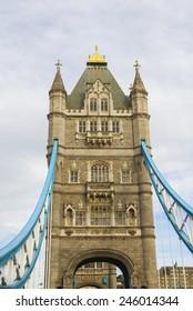 view to Tower Bridge, London, UK