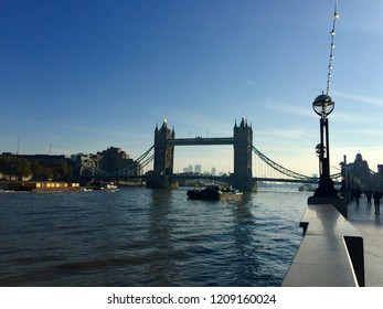 The view of Tower Bridge from South Bant