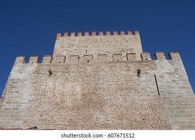 a view of the tower of ciudad rodrigo castle, in salamanca, spain
