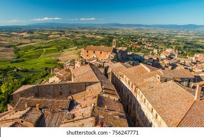View from a tower of Montepulciano, Tuscany
