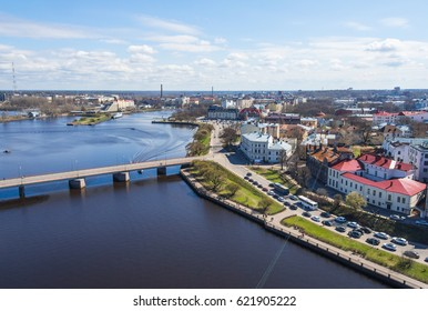 View from the tower of St. Olav of Vyborg Castle to Vyborg, Russia