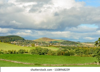 A view of the town of Crieff, Perthshire in Scotland.