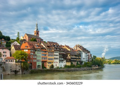 View of the town of Laufenburg with the river Rhine, Black Forest, Baden-Wurttemberg, Germany, Europe