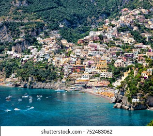View of the town of Positano