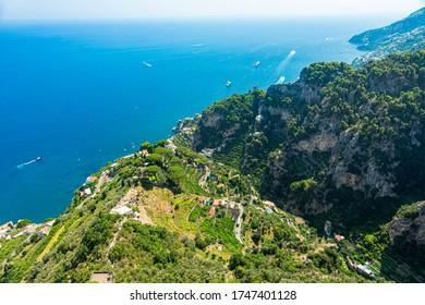 View of the Town of Ravello, Amalfi Coast, Italy, Europe