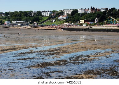 View of the town from the river Thames, Southend-on-Sea, Essex, England