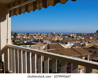 View of the town summer resort Orihuela Costa Valencia Spain