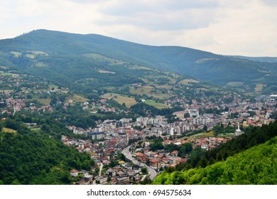 A view of the town of Travnik in Bosnia and Herzegovina
