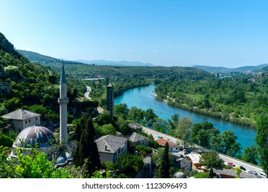 View of the town from Travnik Fortress in Bosnia and Herzegovina,