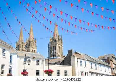 View of the town of Truro in Cornwall, England