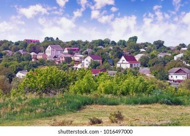View of  town of Uman, Ukraine