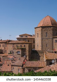 View of the town of Volterra, in Tuscany - Italy