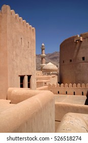 View the town's mosque from Nizwa Fort, Oman
