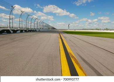 View from the track of the Daytona International Speedway: Daytona Beach, Florida, USA (August 14, 2017)
