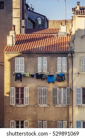 View of a traditional house in Marseille in southern France
