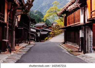 View of a traditional japanese village Tsumago