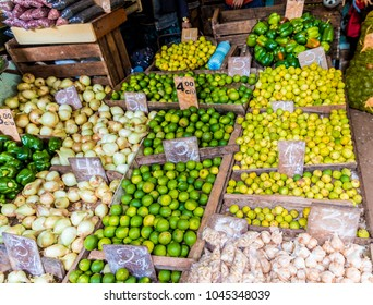 A view of  a traditional market in Havana, Cuba.