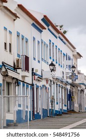 View of the traditional Porto Covo  village streets located in Portugal.