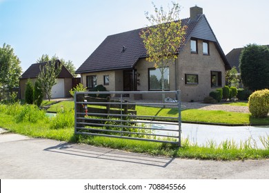 View of traditional village house in Holland