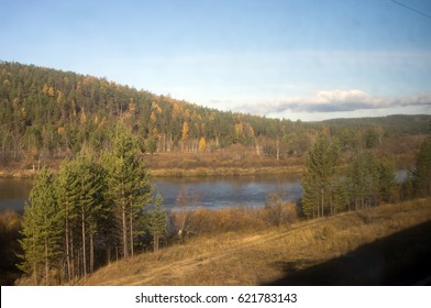 View from train between Ulan Ude and Chita, Siberia, Russia