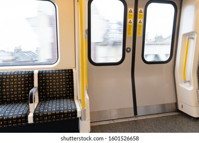 a view of train doors