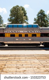 View of train in Gran Canyon National Park railway station.
