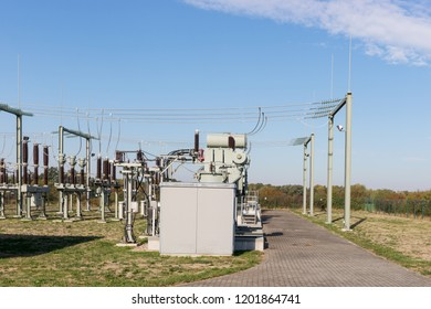View of the transformer and high voltage distribution station