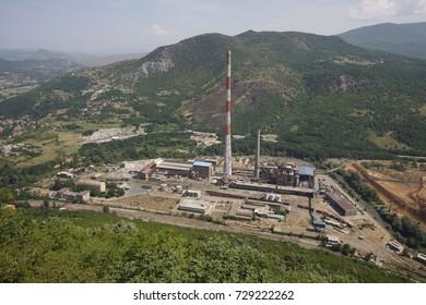View of Trepca Mine in Obilic, Kosovo