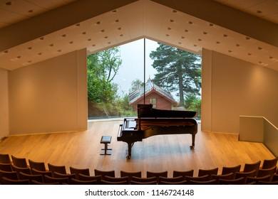 View from Troldhaugen's Concert Hall-Edvard Grieg Museum Troldhaugen-Bergen-Norway 21-09-2013
